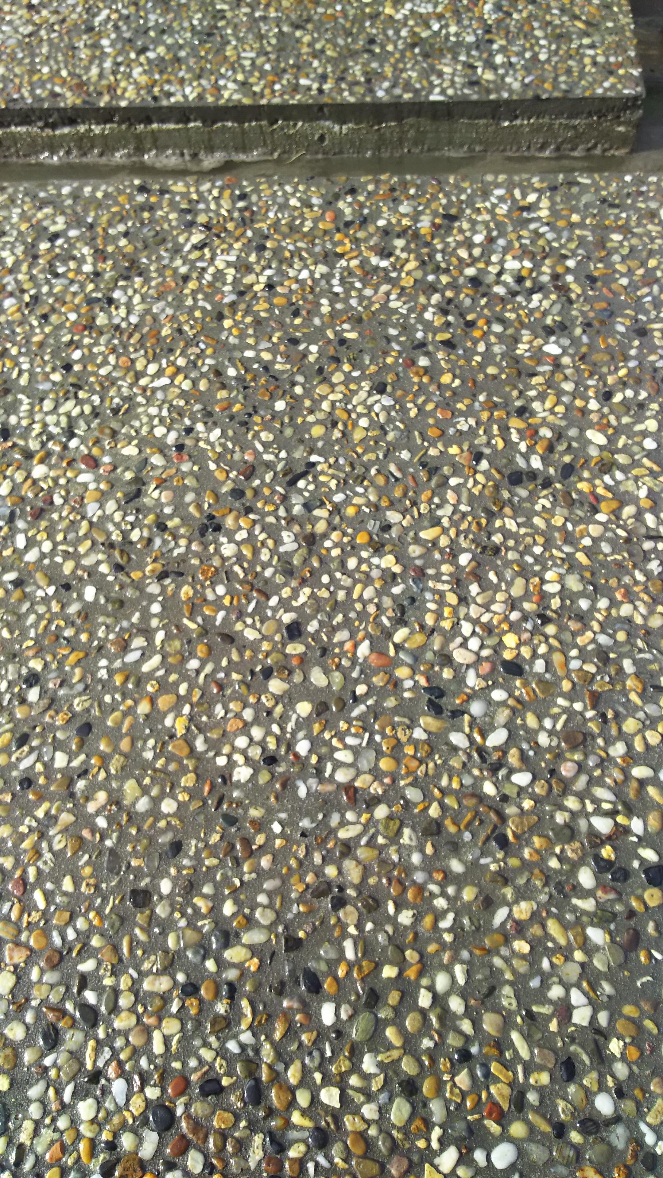土間玉砂利洗い出し仕上げ